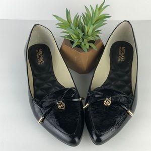 Michael Kors Nancy Pointed Toe Bow Flats 9